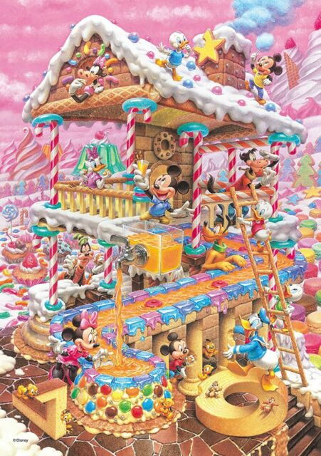 266-piece jigsaw puzzle Disney funny candy of the house tight series (Pure White