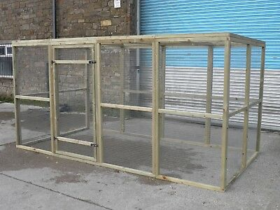 Bird Aviary Chicken Run Cat Run Catio Amicable 12' X 6' X 6' Walk In Run Rabbit Run