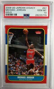 2009-UD-Gold-Legacy-Michael-Jordan-1986-Fleer-Retro-Style-97-PSA-10-Pop-22