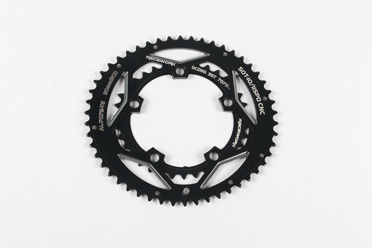 RACEWORK BCD 110mm 35 50T Oval Dual Disc Chainring Road Bike Bycle Chainring
