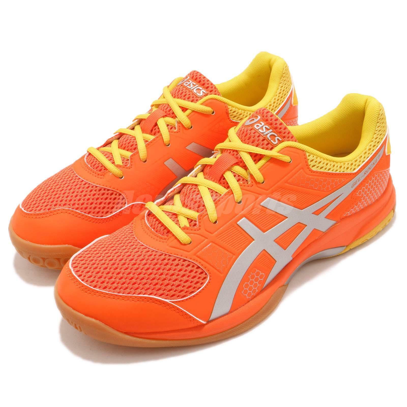 Asics Gel -Rocket 8 Koi orange silver Gum män män män Volleyball Badminton skor B706 -Y800  Beställ nu