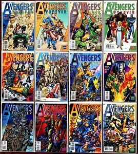Avengers: Forever #1-12 VF+ (1998, Marvel) Complete Series by Busiek & Pacheco.