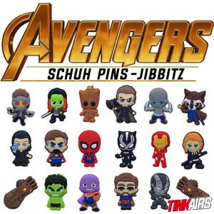 AVENGERS-Schuh-Pins-Crocs-Guardians-Marvel-Hulk-Spiderman-Thor-Groot-jibbitz