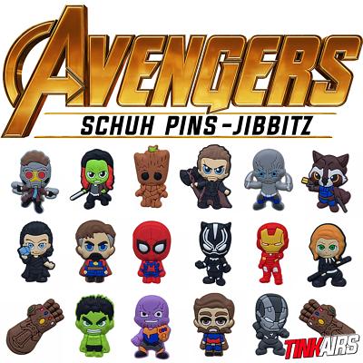 Avengers zapato pins Crocs Guardians Marvel Hulk Spiderman Thor Groot Jibbitz | eBay
