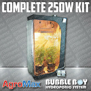 Image is loading COMPLETE-250-watt-HYDROPONIC-GROW-TENT-KIT-SYSTEM- & COMPLETE 250 watt HYDROPONIC GROW TENT KIT SYSTEM 8 PLANTS LIGHT ...