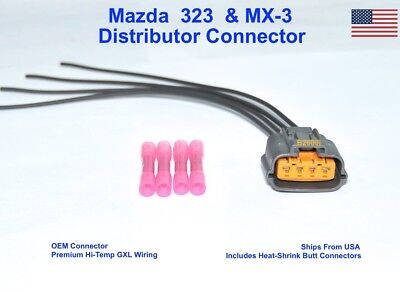 NEW OEM Mazda 323 MX-3 Distributor Connector Plug Harness Repair Pigtail 4- Wire | eBayeBay