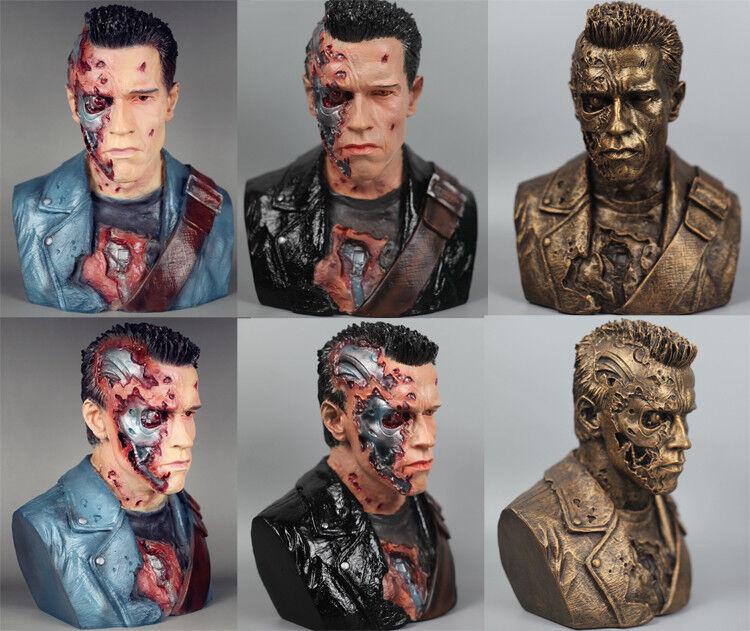 1 2 pantalla Arnold negroenegger Terminator T800 Figura De Resina Estatua 24 Cm De Alto