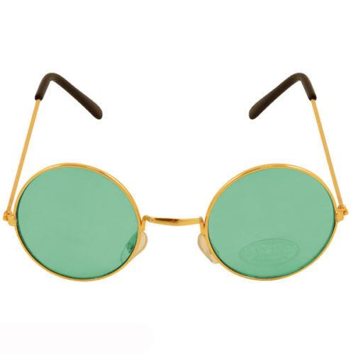 Green Ozzy Hippie Hippy 60s 1970s Round Lennon Specs Fancy Dress Costume Glasses