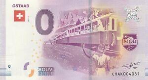 A 2017-1 Billet 0 Euro Souvenir - Ch Ak - Suisse Gstaad Train En Quantité LimitéE