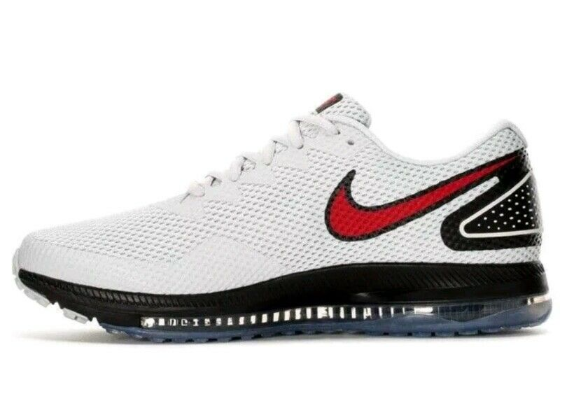 7c24caa48da2 NIKE ZOOM ALL OUT LOW 2 PLATINUM BLACK RED RED RED RUNNING AJ0035-006 Size  9.5 fb27c4