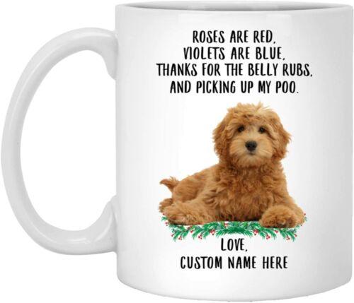 Funny Goldendoodle Red Golden Roses Are Red Violets Are Blue Mug 11oz//15oz