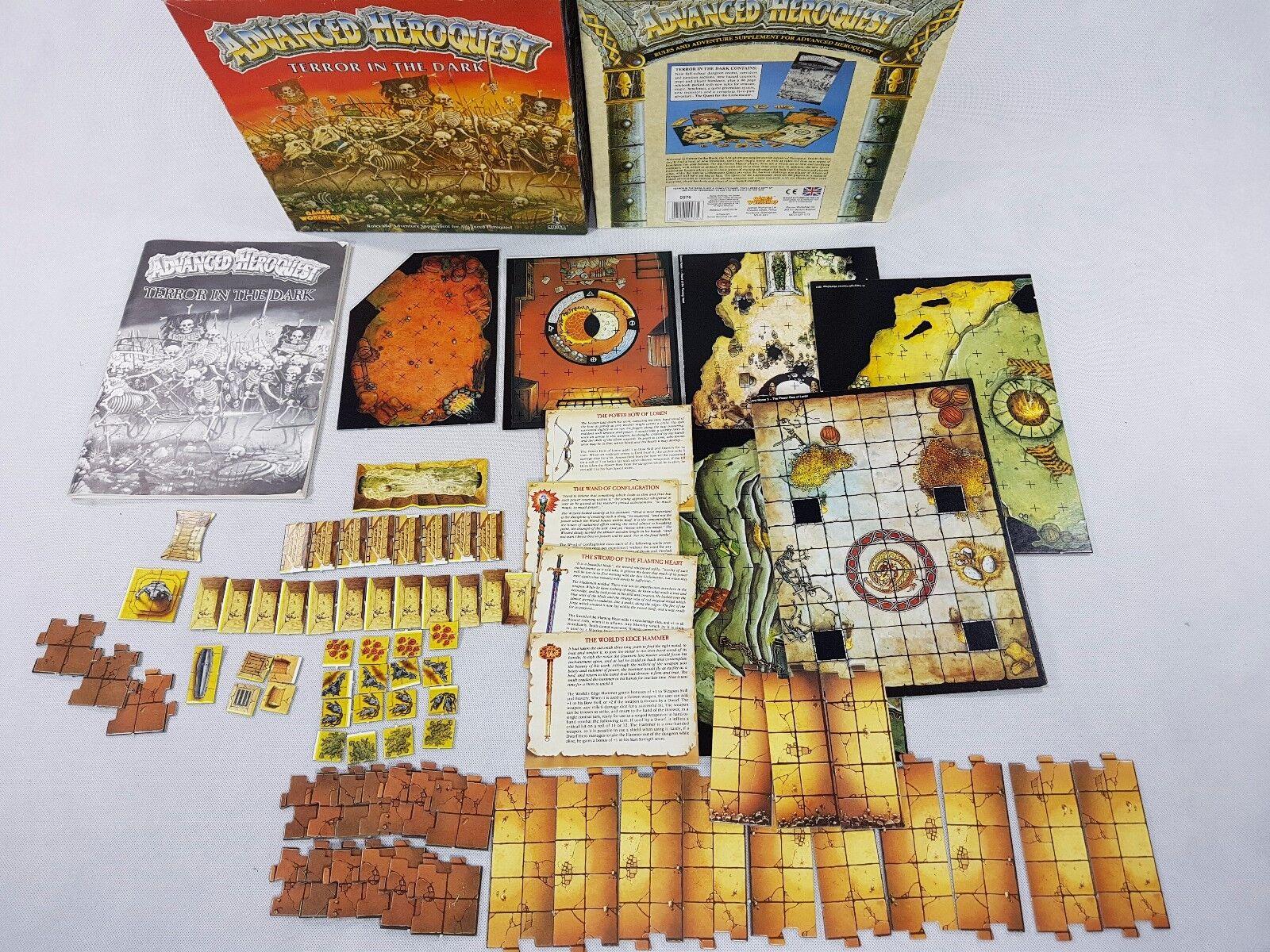 Avancerat Heroquest  TERROR I DARK komplett Hero Quest [ENG,1991]