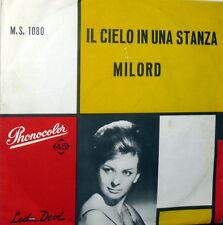 """LEDA DEVI & I MIDAS  IL CIELO IN UNA STANZA   7"""" (  PAOLI ) ITALY 1960 - MILORD"""