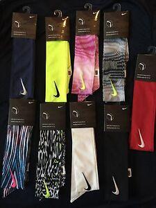 New Nike Drifit Head Tie Tennis Headband 2 0 Black White