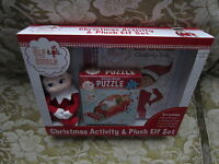 The Elf On The Shelf Christmas Activity & Plush Elf Set Book Puzzle 2004