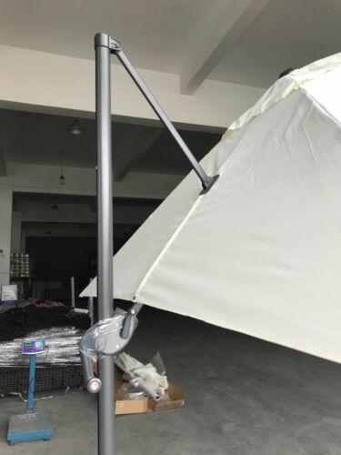 Sonnenschirm Park Dezentrale 3x3 Verstellbar Drehbar A 360° Pol aus Aluminium