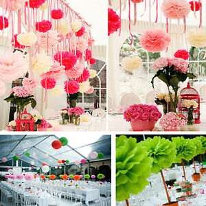 Details About 10pcs 6 8 10 12 15 Tissue Paper Pom Wedding Party Decor Flowers Balls