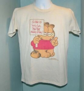 Vtg 1978 Garfield T Shirt So This Is Trinity Lake Big Fat Hairy Deal Size Md Ebay