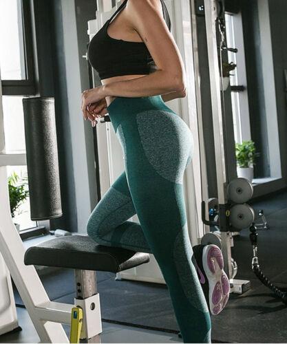 Women Yoga Leggings Pants High Waisted Seamless for GYM Exercise Running Jogging