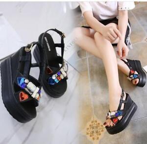 Women-Rhinestone-Wedge-Heels-Summer-Platform-Sandals-Open-Toe-Chunky-Shoes-Size