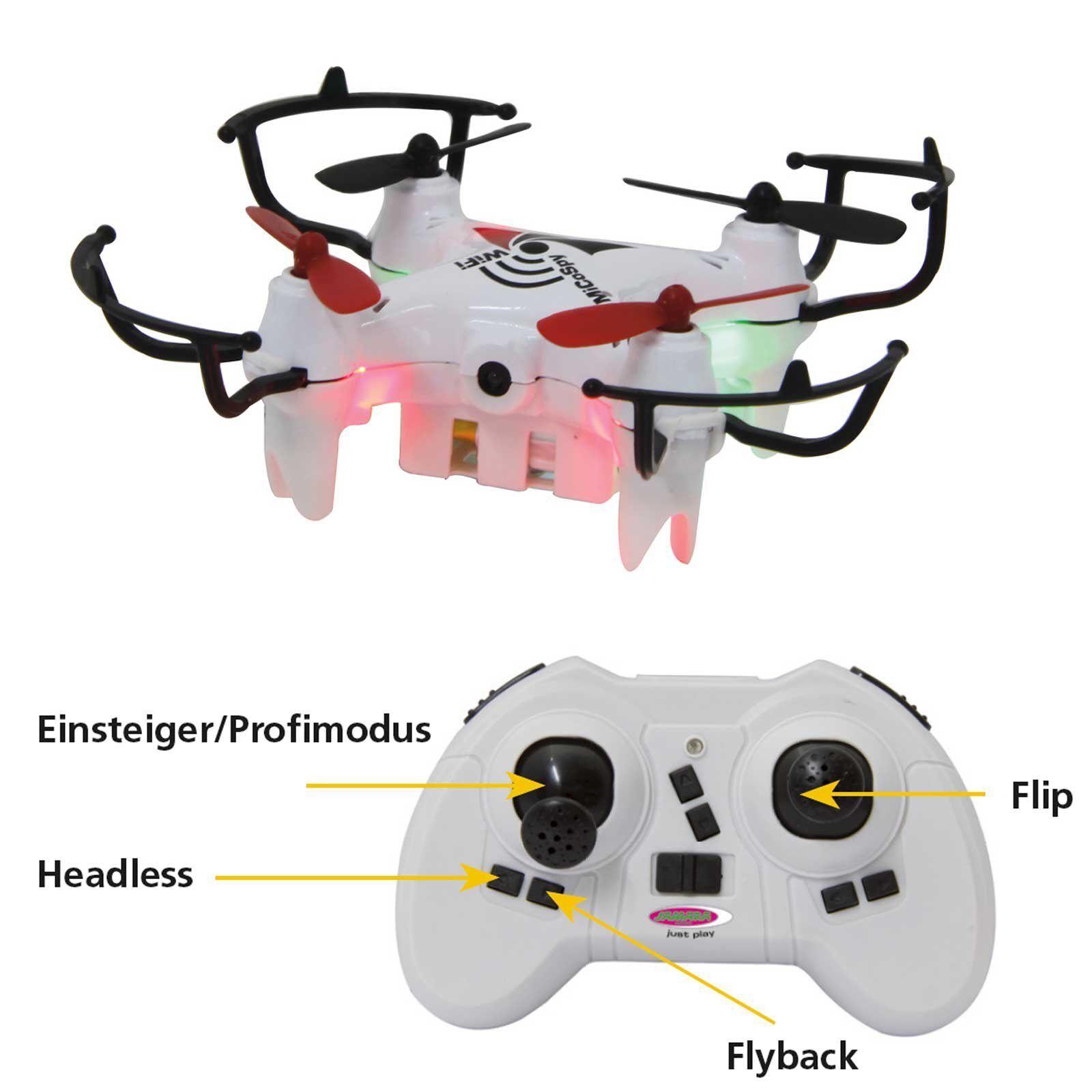 Jamara micospy FPV WI-FI Quadrocopter, rosso-bianco