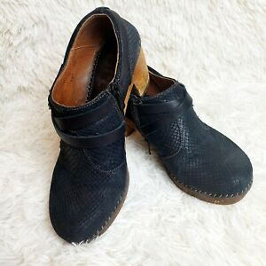 The-Art-Company-Amsterdam-Heeled-Black-Leather-Shoes-Size-9-5-EUC-MSRP-250