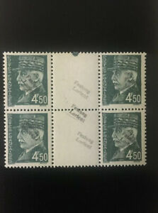 German-France-Festung-Lorient-MNH-Signed-BPP-Block-Of-4-Stamps