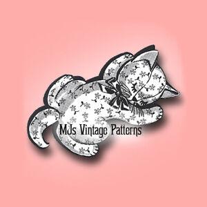 Vintage Pajama Bag Pattern ~ Kitten
