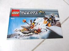 Lego Agents 8631 notice only instructions recette