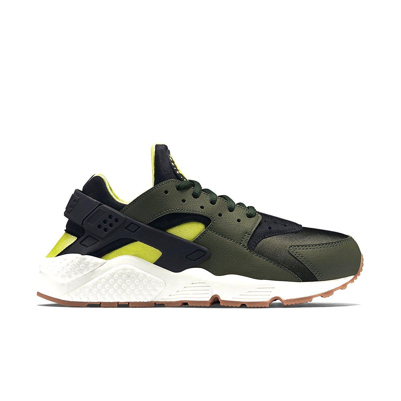 Los últimos zapatos de descuento para hombres y mujeres Mujeres Nike Air Huarache Run Zapatillas Verde 634835 300