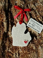 Michigan, The State Of Made With Sand Beach Ornament