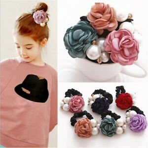 1PC-Girls-Elastic-Hair-Ring-Pearl-Rose-Flower-Hair-Styling-Decoration-Accessory