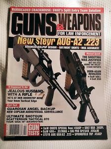GUNS-amp-WEAPONS-FOR-LAW-ENFORCEMENT-MAGAZINE-FEB-1999-NEW-STEYR-AUG-A2-223
