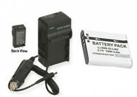 Battery + Charger For Olympus Sz-30mr Sz-10 Sz-20 D-780 Sp-720uz Sz-15 Sz-16
