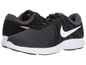 Automático Sympton hierba  Nike Hombre Revolution 4 Zapatillas, Zapatos Deportivos Nike Revolution-Negro  Gris 6-14   eBay