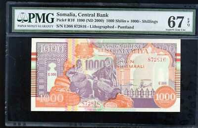 P-R10 UNC 2000 1990 Somalia Puntland Region 1000 shillings