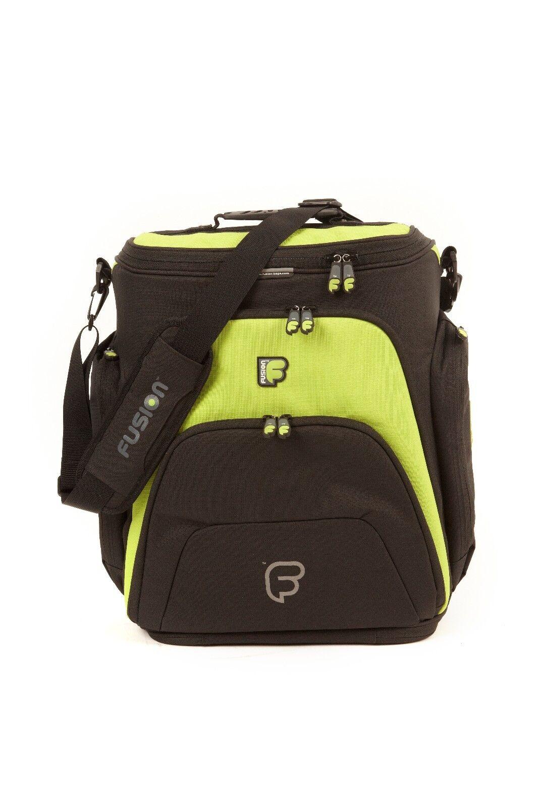 Fusion F1 Mega Workstation Lime  - 17  Pro Audio Laptop Backpack DJ Shoulder Bag