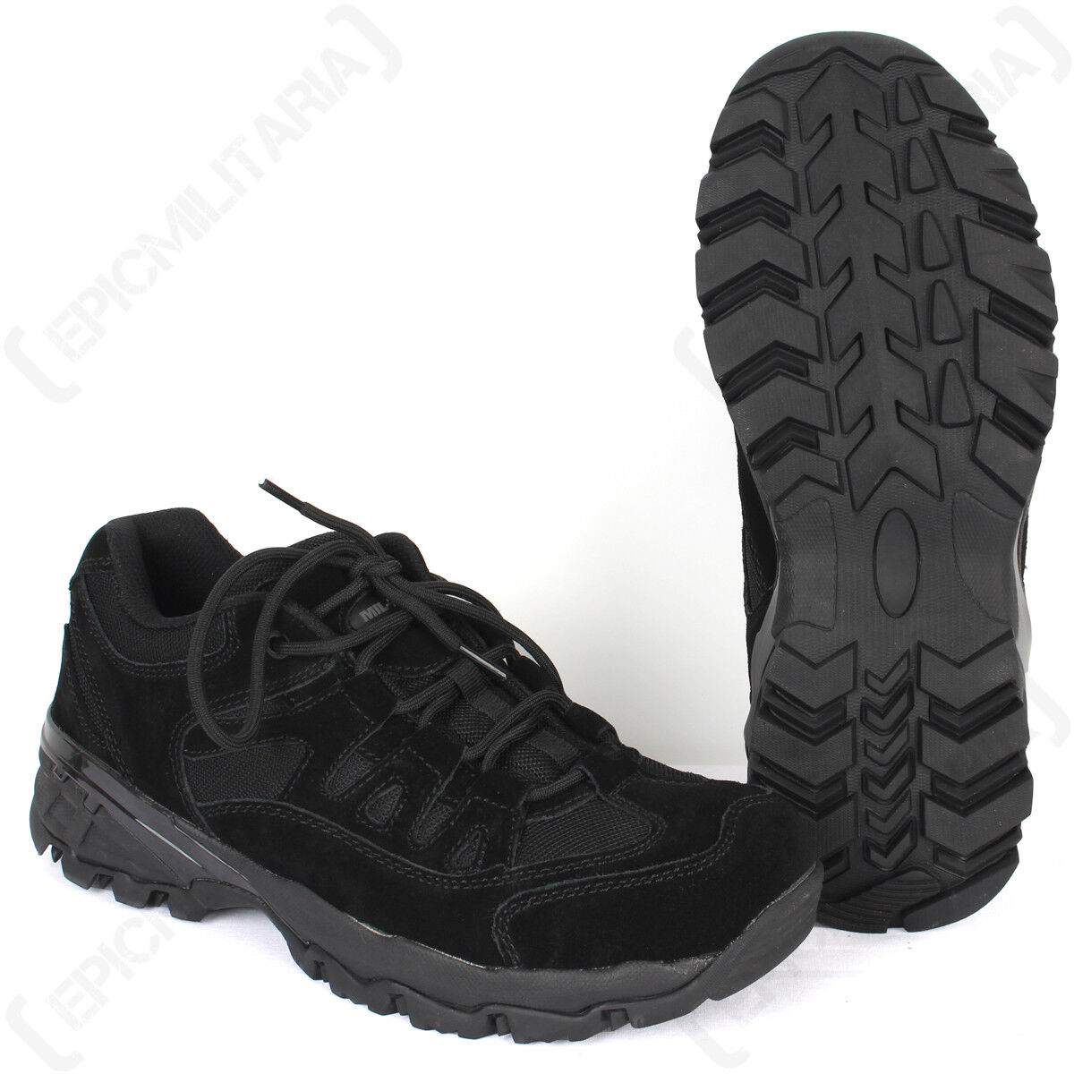 Black Squad Shoes - Walking Hiking Work Security Outdoor Footwear All Sizes New