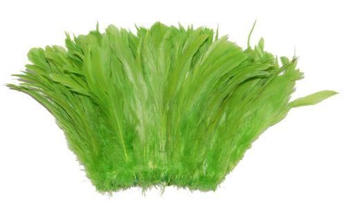 """100 Pcs ROOSTER Coque Fringe LIME 4-6/"""" Feathers Trim//Costume//Halloween"""