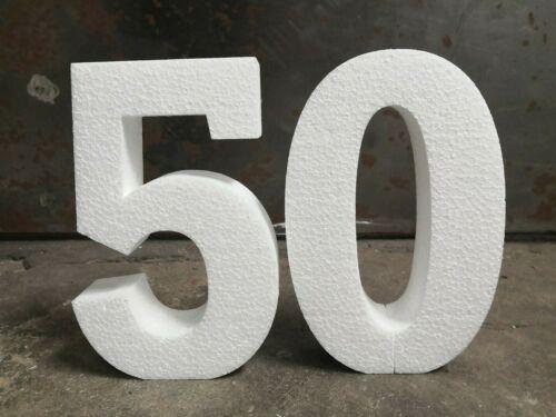 2 pcs 45x10 cm polystyrène chiffres debout de 00 à 99 Anniversaire Événement