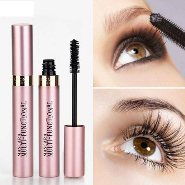 Black 4D Silk Fiber Eyelash Mascara Extension Makeup Waterproof Eye Lashes HOT
