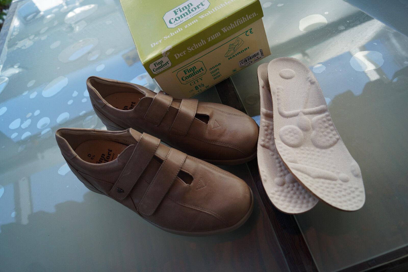 FINN COMFORT Nairobi Damen Schuhe Klett V m. 2 paar Einlagen Gr.8,5 D   42,5 NEU   | Roman