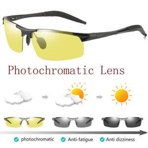 New Aluminium Men Polarized Photochromic Sunglasses Night Vision Driving Eyewear
