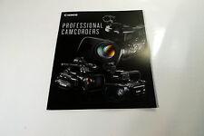 Canon Professional Camcoder Guide Brochure/ Catalog 2013 (EN) XF305 XF105 300 10