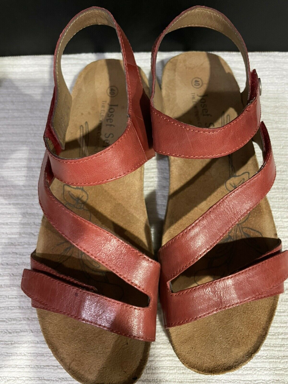 Josef Seibel Tonga  Womens Strappy Sandals In Red - image 2
