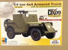 1/6 Scale Dragon DX09 WWII US 1/4 Ton 4x4 Armored Jeep with 50 cal 71428