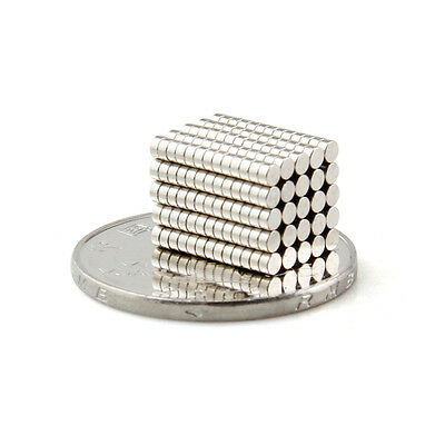 20 Pcs Super Strong Round Disc 2x1mm Magnet Rare Earth Neodymium N35