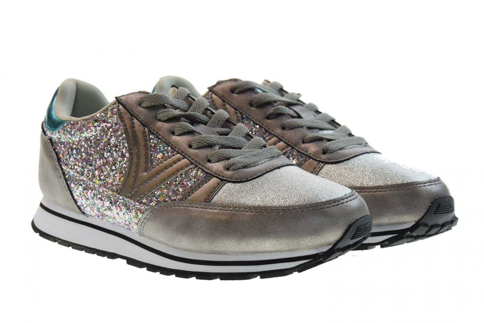 Victoria P19s chaussures femmes Pantoufles bajas 141113 argent