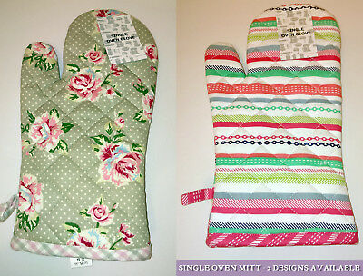 Country Style Chic Rose Cotton Quilted Oven Mitt Pot Glove
