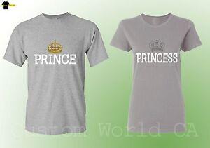 6103619138 Image is loading Couple-Matching-Shirts-Boyfriend-Girlfriend-Love-Matching -Prince-